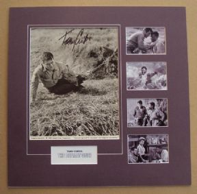 Tony Curtis Mounted 1959 Movie Still Signed Photo Set